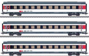 Märklin 42160 SBB Personenwagen EW IV 2. Klasse, Set 3-teilig