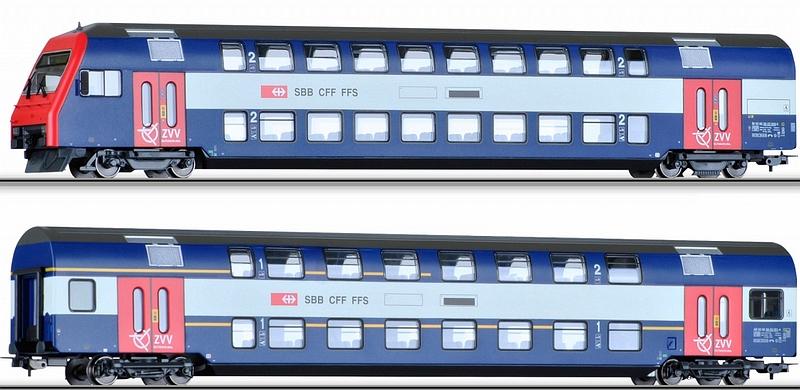 Tillig 74199 SBB Steuer- & Personenwagen S-Bahn ZVV, Set
