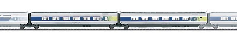 Trix 23438 SNCF / SBB TGV POS Ergänzungsset 1. Klasse-Wagen