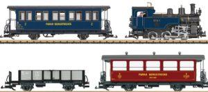 LGB 29272 DFB Zugpackung mit Dampflok Nr. 5, 2 Personenwagen & 1 Niederbordwagen
