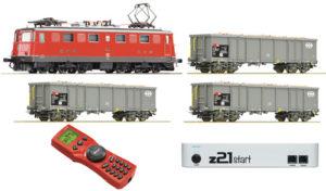 Roco 51296 SBB Startset Digital Ae6/6 Hochbordwagen Eaos Zentrale z21