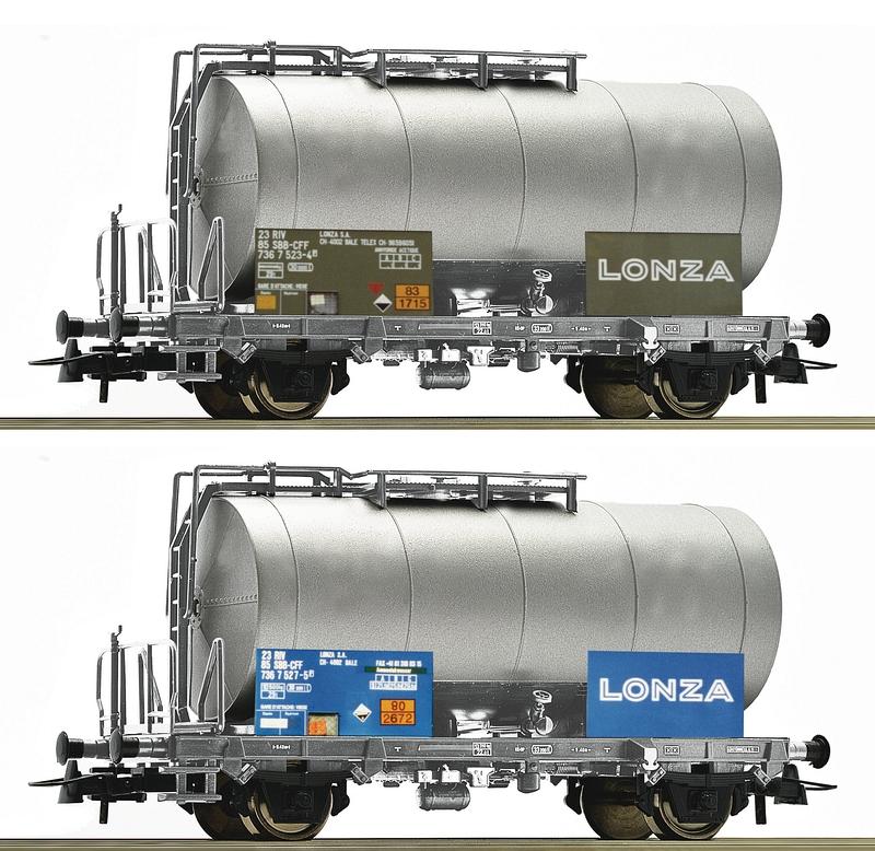 Roco Kesselwagen-Set der Firma Lonza