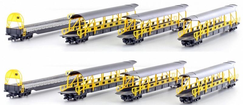 Hobbytrain H23941 8-teiliges Set, Autverladewagen der BLS