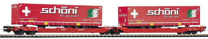 Piko 54773 6-achsiger Gelenk-Taschenwagen der Wascosa AG