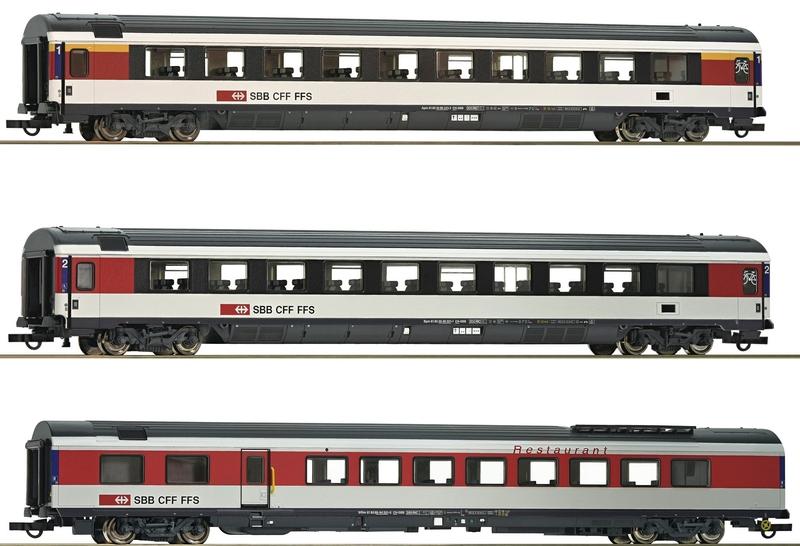 Roco 64143 3-teiliges SBB EC-Schnellzugwagen-Set