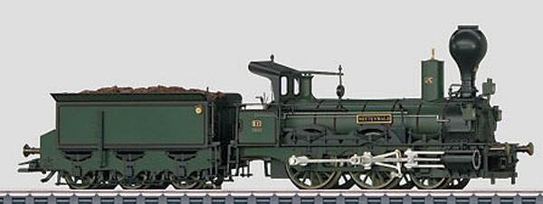 Märklin 37981 Oldtimer-Dampflok mit Schlepptender Serie B IV der K.Bay.Sts.B.