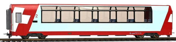 Bemo 3689 126 RhB Bp 2536 Panoramawagen 2. Klasse