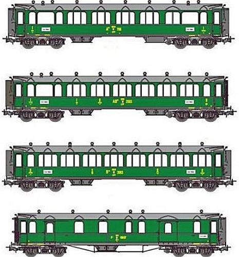 Liliput 330510 Gotthardbahn Personenwagen in SBB Ausführung
