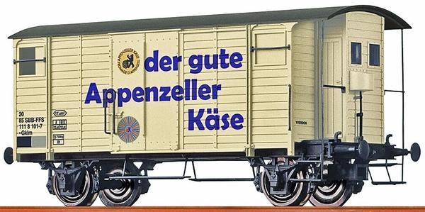 """Brawa 47860 SBB Gklm, 20 85 111 8 101-7 """"Appenzeller käse"""""""