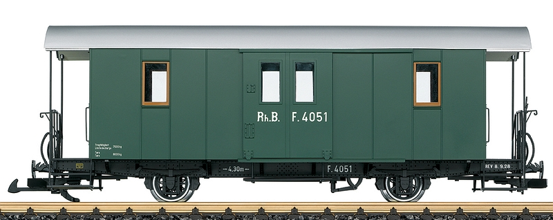 LGB 33403 RhB Nostalgie-Gepäckwagen F 4051