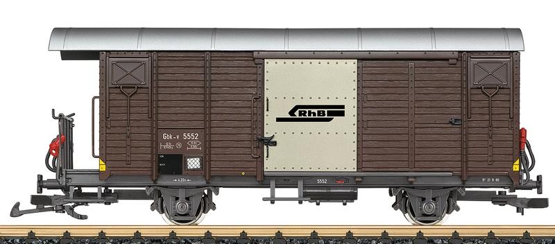 LGB 43813 RhB Geschlossener güterwagen Gbk-v 5552
