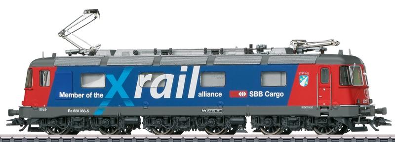 "Märklin 36326 SBB Re 620 088-5 ""Xrail"" Wappen Linthal"