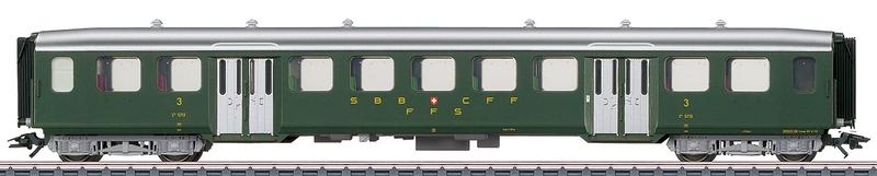 Märklin 43372 SBB Leichtstahl-Personenwagen C4ü