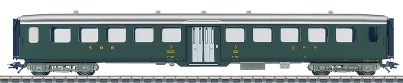 Märklin 43382 SBB Leichtstahl-Personenwagen C4ü Mitteleinstieg