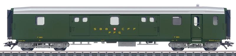 Märklin 43402 SBB Leichtstahl-Gepäckwagen F4ü