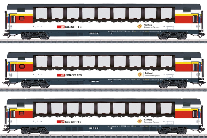 Märklin 3-teiliges SBB Panorama-Wagenset