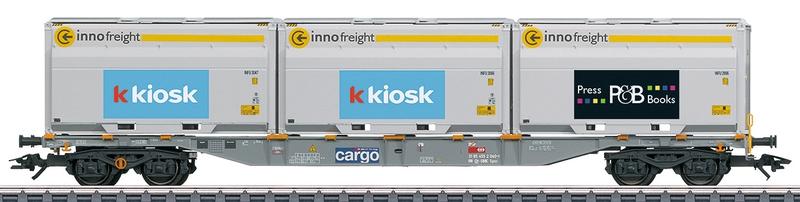 Märklin 47459 4-achsiger Containertragwagen Kiosk AG