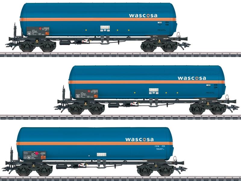 "Märklin 48488 3-teiliges druckgas-Kesselwagen-Set ""Wascosa"""