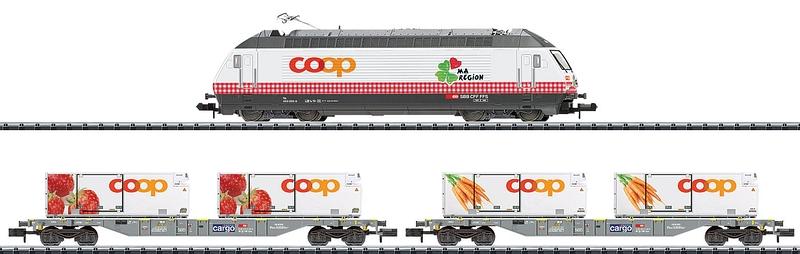 "Minitrix 11638 3-teiliges Zugset ""Coop-Miini-Region"""