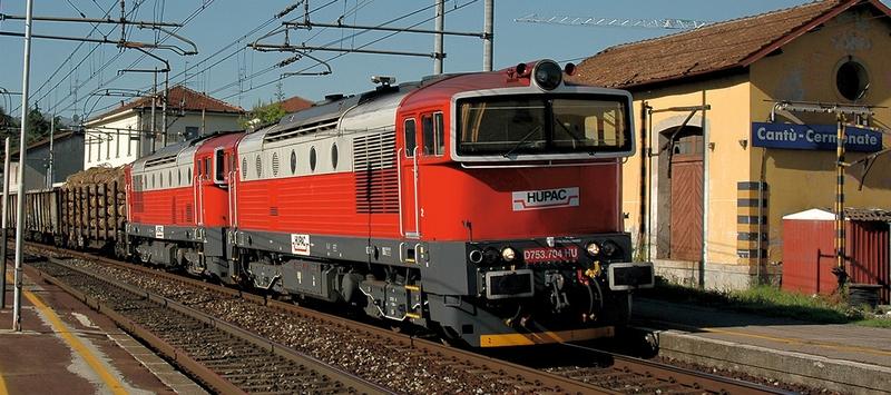 Minitrix 16737 Diesellok D753 der Fa- Hupac AG