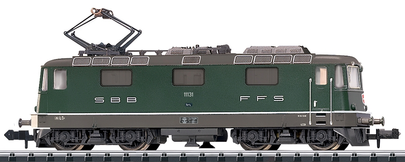 Minitrix 16881 SBB Re 4/4 II, Betriebsnummer 11131 grün