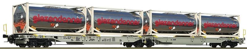 """Roco 67403 AAE 6-achsiger Doppeltragwagen_Sdggmrs_beladen mit containern """"Giezendaner"""""""