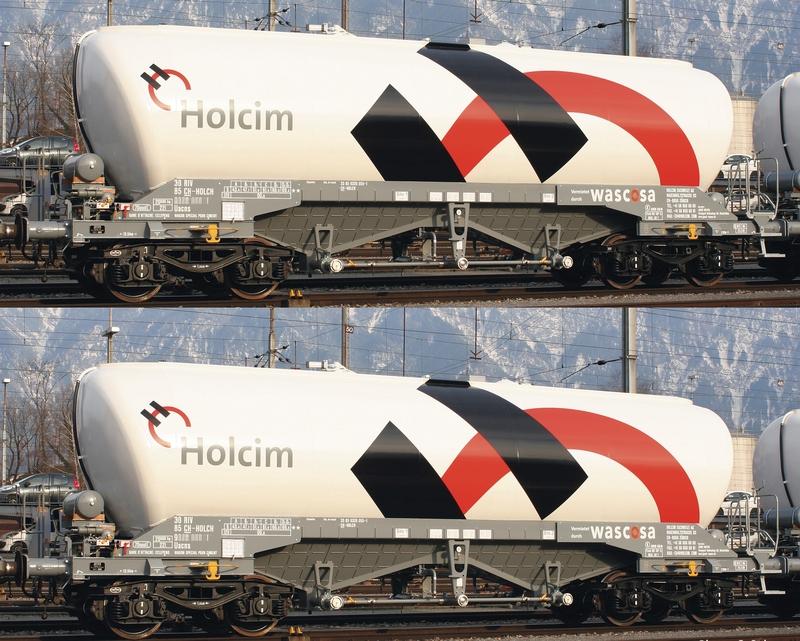 "Roco 76138 2-teiliges Silowagen-Set Uacns ""Holcim"""