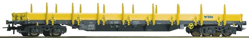 Roco 76985 BLS 4-achsiger Rungenwagen mit Aluwänden