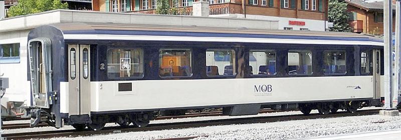Bemo 3292 358 MOB Personenwagen B 218, 2. Klasse.