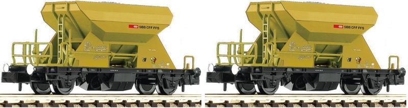 Fleischmann 822914 2-teiliges-sbb-schotterwagen-set_ep-V-IV