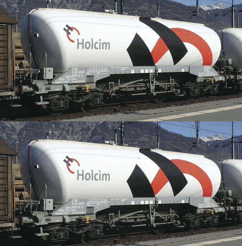 Fleischmann 848901 2-teiliges Silowagen-Set der Firma Holcim AG