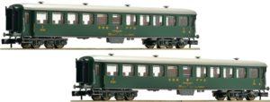Fleischman 881814 2-teiliges Personenwagen-Set der SBb, schwere Stahlbauart, B + B