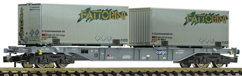 Fleischmann 865242 4-achsiger Container-Tragwagen SBB-Cargo