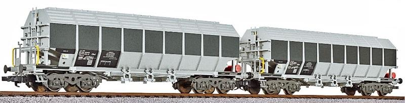 Liliput 230152 2-teiliges Tonerde-Transportwagen-Set, Privatwagen der Ermewa AG