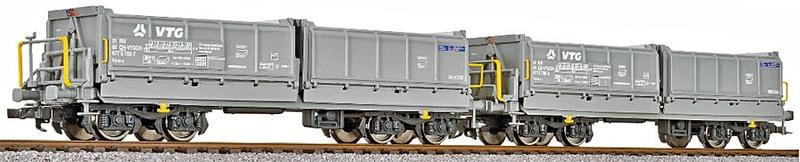 Liliput 2-teiliges SBB Muldenkippwagen-Set, Fans-u, VTG Verion