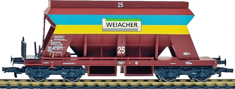 Liliput 235546 Kiesswagen der Weiacher Kies AG, eingestellt bei der SBB