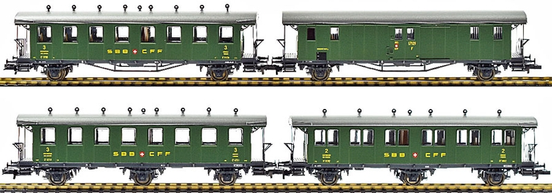 Liliput 330505 4-teiliges SBB Oldtimer Personenwagen-Set 1