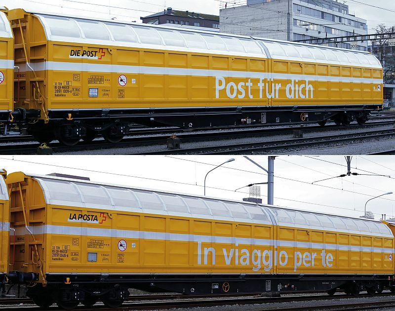 """Roco 2-teiliges Schiebewandwagen-Set """"Die Post"""""""