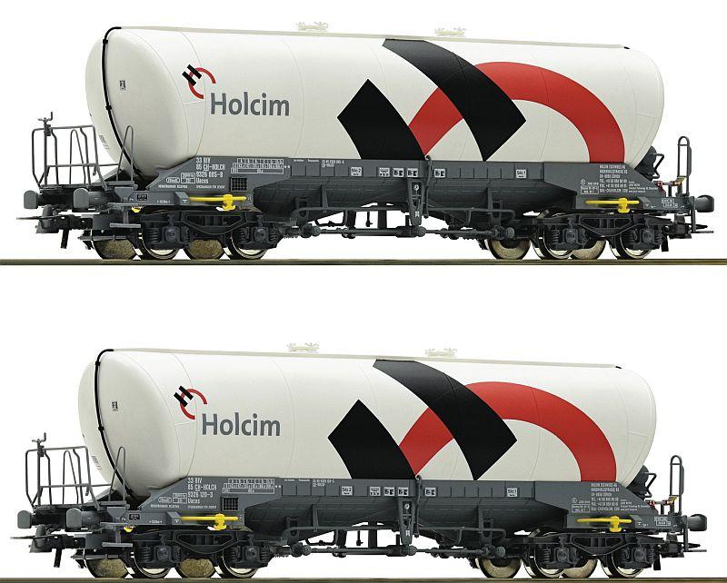"""Roco 76145 2-teiliges Staubsilowagen-Set """"Holcim"""""""