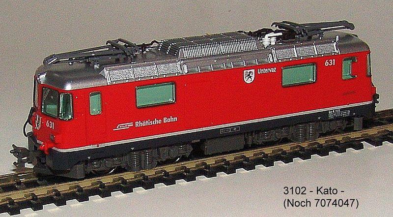 """Kato 3102 RhB Ge 4/4 II Nummer 631 """"Untervaz"""""""