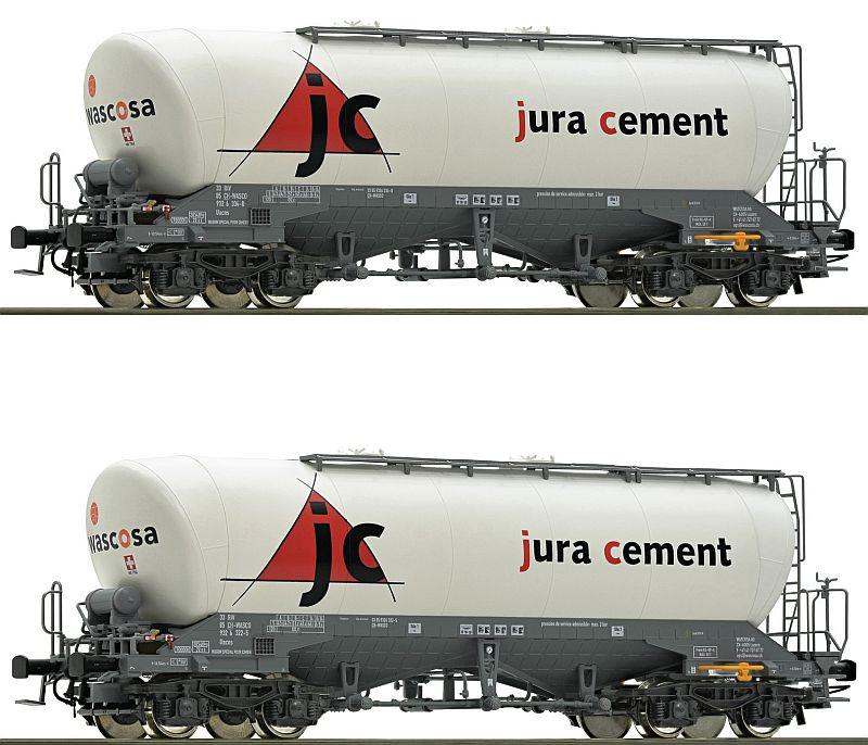 "Roco 76146 2-teiliges Silowagen-Set, Bauart Uacns ""Jura Ceent"""