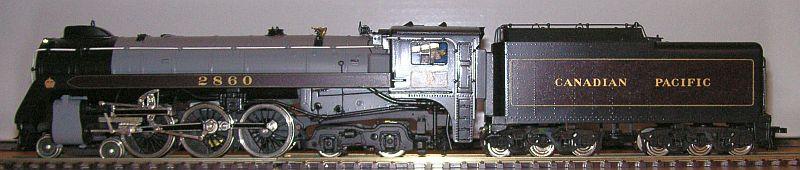 Schlepptender Dampflok der Canadian Pacific Nummer 2860