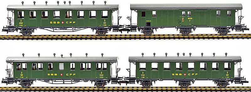 Liliput 330506 Personenwagen-Set mit offener Plattform