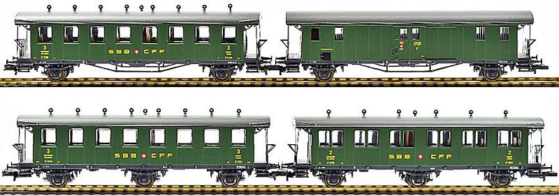 Liliput 330505 Personenwagen-Set mit offener Plattform