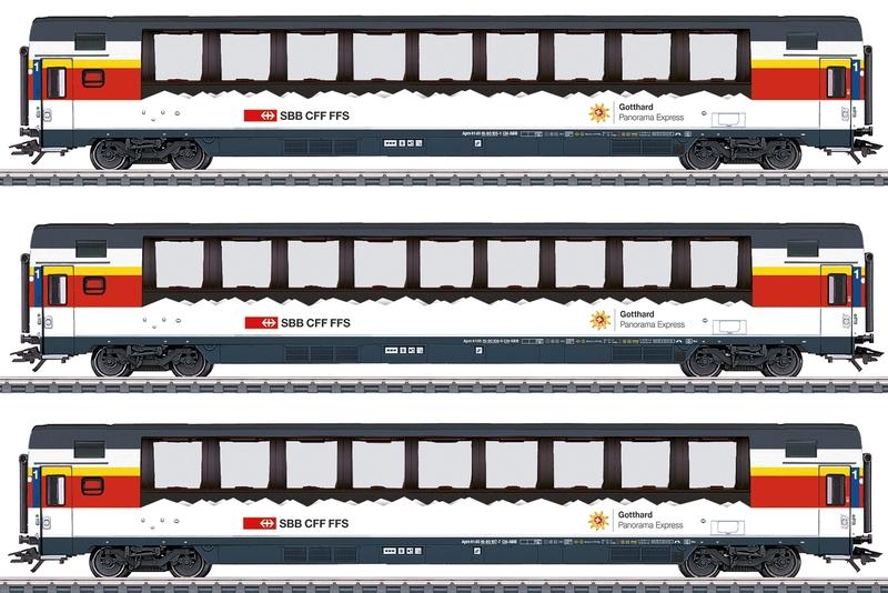Märklin 43650 SBb 3-teiliges Panoramawagen-Set