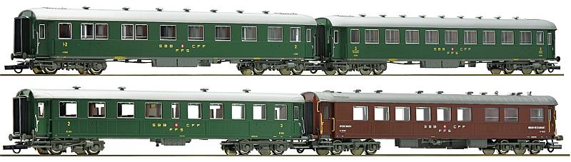 Roco 4-teiliges Schnellzugwagenset der SBB
