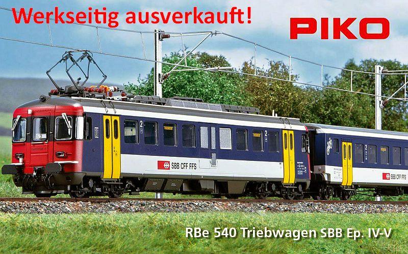 Piko SBB RBe 4/4 + BDe in NPZ -farbgebung