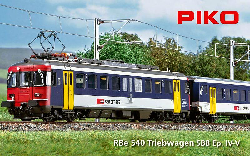 """Piko SBB RBe 540 und BDt """"NPZ"""""""