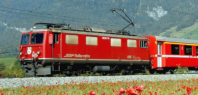 """Bemo 1252 125 RhB Ge 4/4 I 605 Nr. """"Silvretta"""""""