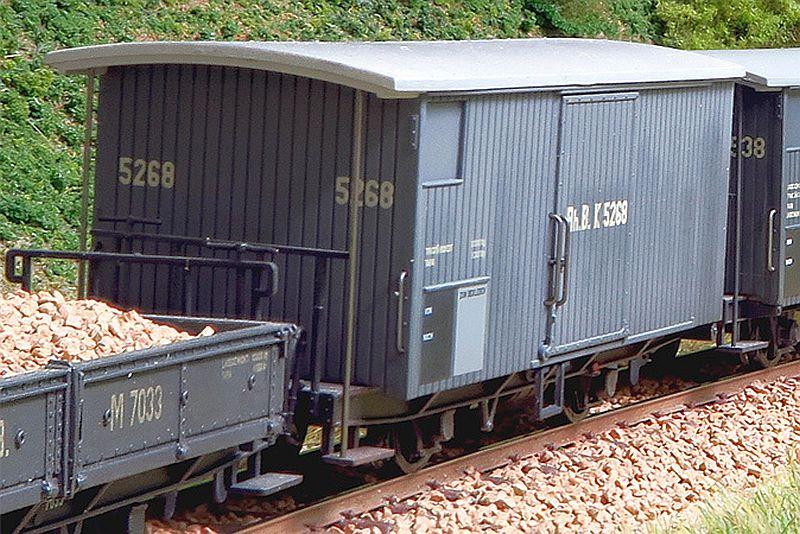 Bemo 2294 104 RhB Gedeckter Güterwagen Typ K